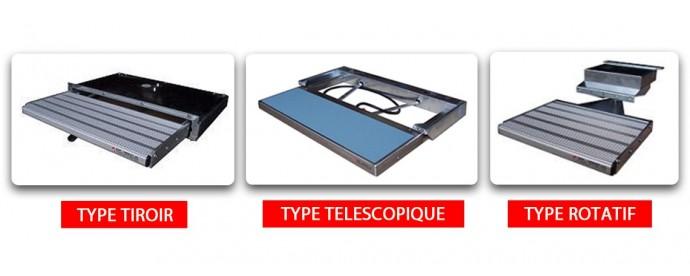 Marche pied lateral tiroir rotatif t lescopique vehicule utilitaire krs utilitaire com - Marche pied 3 marche ...