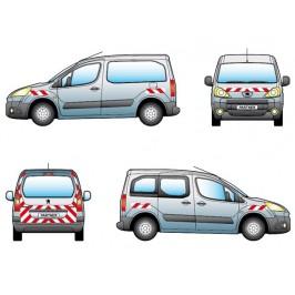 Kit balisages pré-découpés Peugeot Partner - Sortie en 2008